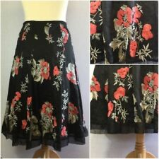 Silk Blend Hand-wash Only Floral Skirts for Women