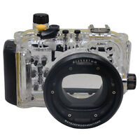 Mcoplus 40M/130ft Underwater Waterproof Housing Camera Case for Canon S120