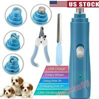 3 in1 Pet Dog Cat Paws Nail Trimmer Grooming Tool Grinder Electric Clipper Kit