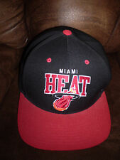 MIAMI HEAT Hat Cap Snapback MITCHELL & NESS Hardwood Classics Adjustable BLACK