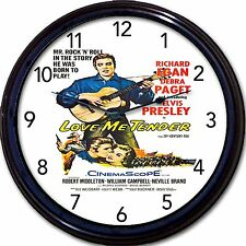 Elvis Presley Love Me Tender Rock and Roll Movie Wall Clock Movie Poster New 10""