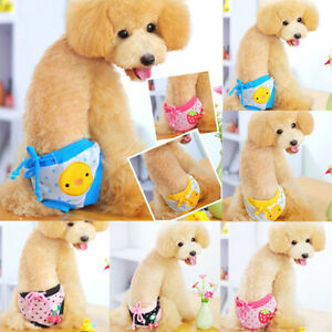 Cute Female Dog Physiological Pants Diaper Sanitary Dog Shorts Panties Briefs