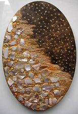 """Acrylbild Acrylmalerei Collage Kunst Osterdeko """"Goldene Nacht"""""""