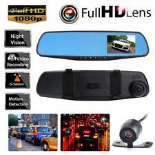 HD 1080P Dual Lens Car Auto DVR Mirror Dash Cam Recorder + Rear View Camera Kits