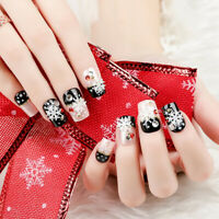 24Pcs/Set DIY Woman Artificial Short Full Cover False Fake  Nails Art T-SL