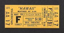 "Julie Andrews ""HAWAII"" Max Von Sydow / Richard Harris 1967 Unused Movie Ticket"