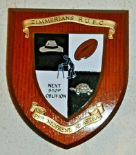 More details for zimmerians rugby union football club wall plaque shield crest coat of arms rufc