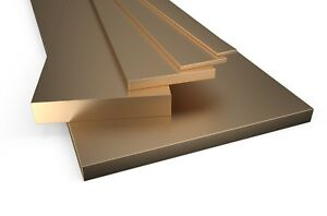 Brass Flat Bar Plate Strip Many sizes and lengths Metal Bras Solid Rod Section