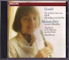Michala PETRI: VIVALDI 6 Recorder Concerto Op.10 Iona BROWN CD 1981 Blockflöte