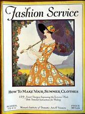 Antique Womans Institute Summer 1926 FASHION SERVICE 159 Designs Make Clothes