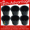 6 X STANDARD SIZE RECESSED BLACK DRINK/CUP/CAN/STUBBIES HOLDER MARINE BOAT YACHT