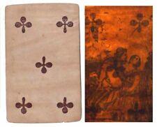 CARTE A JOUER transparente EROTIQUE vers 1860 / jouet optique hidden / 169