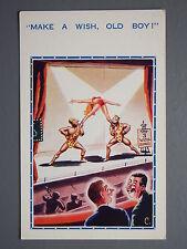 R&L Postcard: Comic, Inter-Art 640, Circus Stage Act, Make a Wish Old Boy