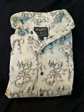 Woolrich Mens Shirt Woods Coyote Wolf Grey Button Down Size Xl Thick Cotton