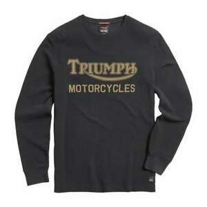 Triumph Synchro Longsleeve T Shirt - Black | UK Stock | Fast Delivery