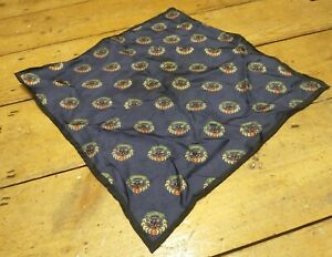 BURBERRY LOGO PRINT SILK POCKET SQUARE MADE IN ITALY BNWT