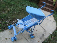 Steel Folding Stroller, Kolcraft Light Blue (9 Lbs.) w/ Canopy, Baby / Toddler