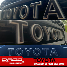 Toyota Tacoma 2016-2020 TRD PRO GRILL LETTER INSERTS 3D RAISED DOMED GEL