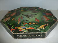 RARE 1969 Springbok Okta-Puzzle TROPICAL FISH Octagonal Jigsaw Puzzle 500pc
