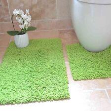 100% Cotton 2 Piece Tumble Twist Bath Mat & Pedestal Mat Bathroom Toilet Set