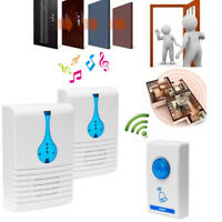 Wireless Doorbell 32 Tune Songs Waterproof 100M Range Remote Control Door bell
