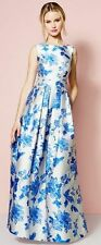 NWT Eliza J Evening Gown 8 JACQUARD MOTHER BRIDE  Fall Formal FLORAL Ball Prom