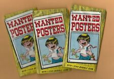 1974 Topps Wanted Posters 3 Packs Mint Condition