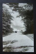 Scenic Dr. approach to Lake Michigan between Muskegon & Whitehall Rppc postcard