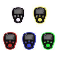 Digital Reihenzähler Finger Strickreihenzähler Elektronisch LCD Zähler LED DE