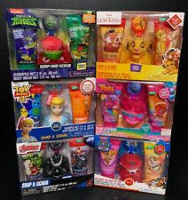 Marvel Disney Dream Works Nickelodeon Bath Gift Set Body Soap & Wash Scrub NIB