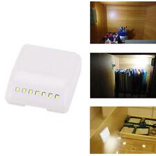 2 Pack sensor de movimiento activado Luz de noche 7 LED Lámpara de inducción del Gabinete Armario