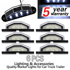 6x LED Convenience Courtesy License Plate Light - 4 LED Waterproof Truck Car RV