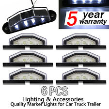 6x 4 LED Car Truck Trailer License Plate Tag Lights Rear Lamp Step Lamp White