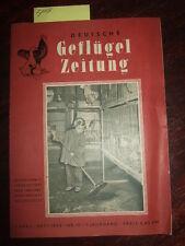 Deutsche Geflügel-Zeitung,Nr.10/1958,DDR-Fachzeitschrift der Rasse-Geflügelzucht