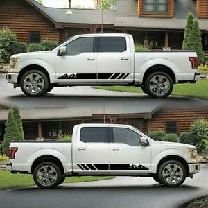 Racing Side Door Fender Skirt Stripes Decal Stickers Fit for Sport Race Car 2PC
