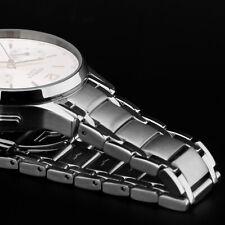 Edelstahl Uhrarmband für STRELA ® Uhr 19 mm massiv glanz matt Butterfly by BURAN