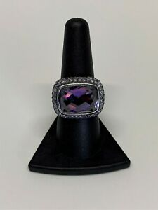 $3,900 David Yurman S.S. 926 Amethyst with Gray Sapphire Waverly Ring Sz 5.25