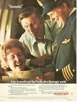 1977 Original Advertising' Vintage Qantas Airlines Australia 'Qantastic' 22BC