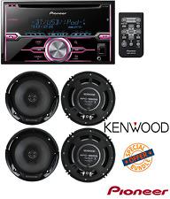 Pioneer FH-s701bs 2 DIN CD Receiver / 2Pairs Kenwood 6.5 Inch 600 Watt Speakers