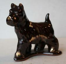Scottish Terrier Scottie Dog Figurine Redware Statue Standing Great Looking Pose