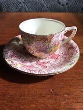 "Vintage Royal Winton Grimwades ""Dorset"" Demitasse Coffee Cup And Saucer"