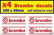 4 Brembo Brake stickers self adhesive vinyl decals rally race sports car racing