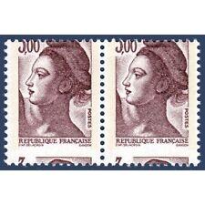N°2243 MARIANNE EN PAIRE TYPE LIBERTÉ  PIQUAGE A CHEVAL