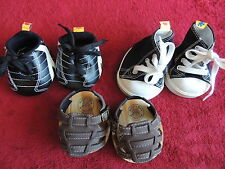 Build a Bear Boy's Lot of 3 Pairs Shoes Sandals Brown Cleats Sneakers High Tops