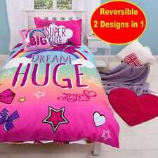 JOJO SIWA WITH THE BIG BOW SINGLE DUVET QUILT COVER SET GIRLS KIDS PINK BEDROOM