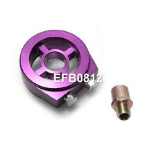 Purple Sandwich Plate Adaptor For Oil Temp / Pressure Sensor M20 or 3/4 Filter