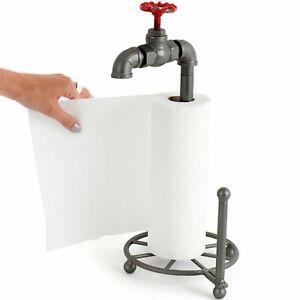 Küchenrollenhalter Design Metall Wasserhahn Industrie Küchenrolle Halter Vintage