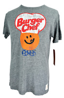 Burger Chef Gray T-Shirt Fast Food Original Retro Brand Graphic Tee Soft Large L