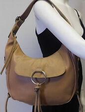 Nine West Cognac Convertible Hobo Shoulder Bag Handbag Tote Purse