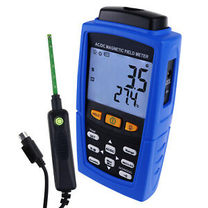 Gaussmeter Magnetic Field Strength Meter AC / DC Automatic Manual Data Recording